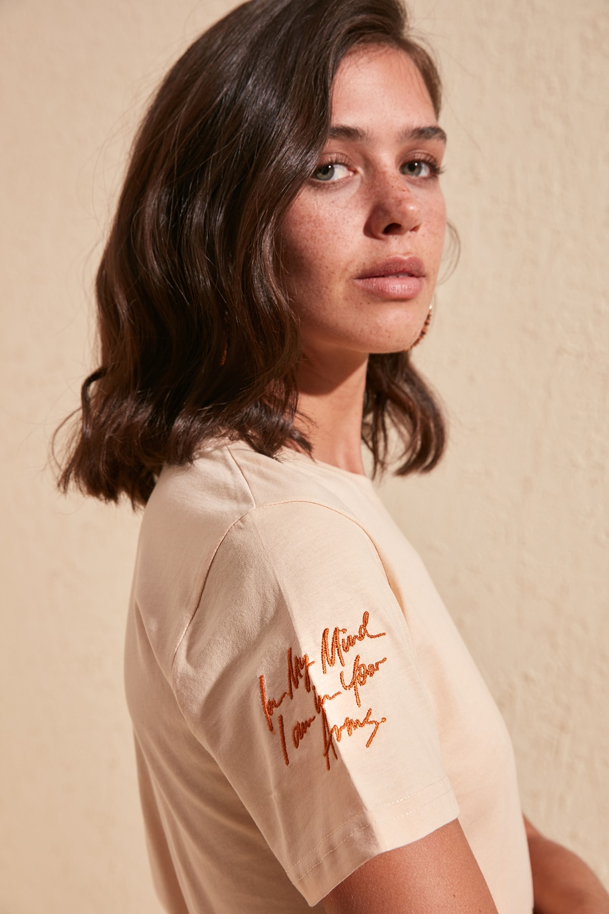 Trendyol Printed Basic Knitted T-Shirt TWOSS20TS0797