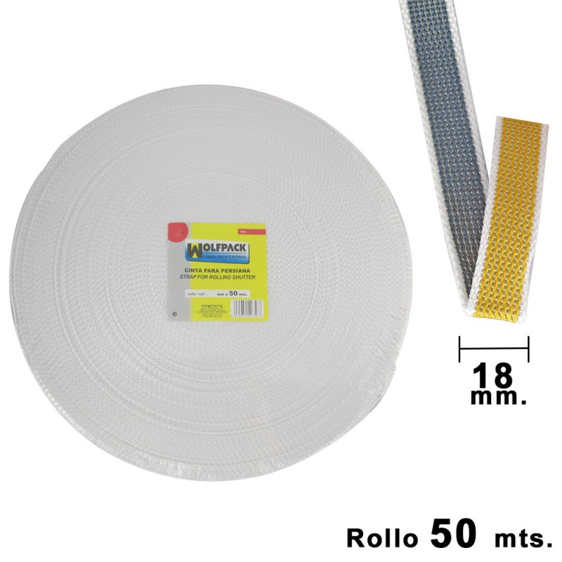Tape Blind Wolfpack Two-Tone 18mm. Roll 50 Meters
