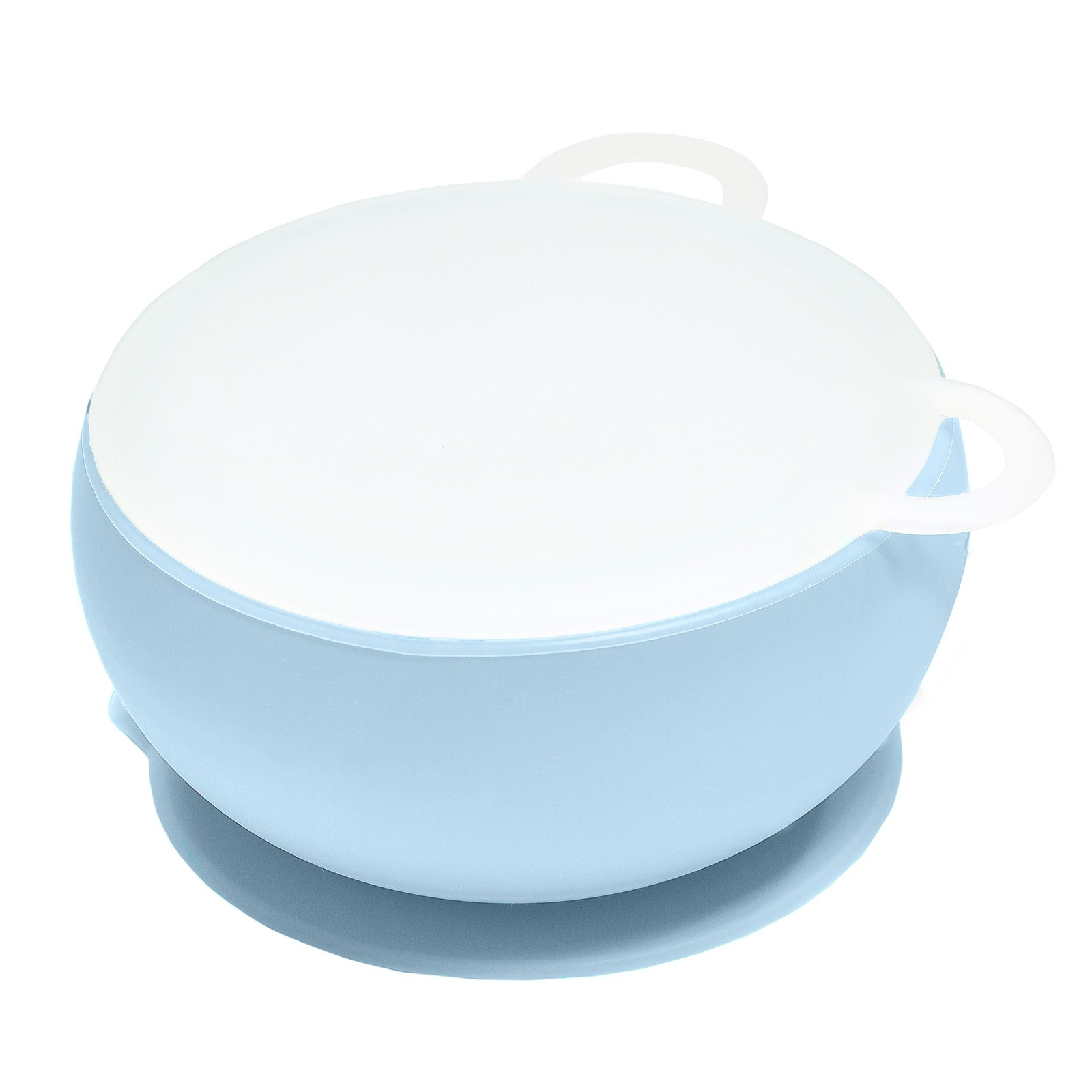 Ebebek Oioi Silicone Bowl With Lid - Blue