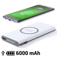 Wireless Power Bank 6000 mAh LED Micro USB 145783|Power Bank Accessories| |  -