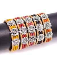 Colorful cork with flower handmade women bracelet natural Original pulsera jewelry BRW-014-MIX-5