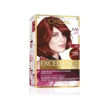 Loreal Excellence Creme farba do włosów 6 66 Yoğun ksizılı 192232910 tanie i dobre opinie