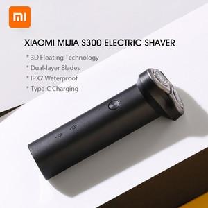 Image 5 - מקורי Xiaomi Mijia S300 S500 S500C חשמלי מכונת גילוח IPX7 עמיד למים כפול להב עם ראש xiaomi מכונת גילוח