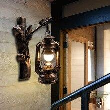 Artpad American LOFT Industrial Retro Wall Lamp AC90V-260V E27 Metal LED Adjustable Corridor Balcony Light for Indoor Fixtures