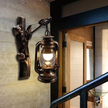 Artpad American LOFT Industrial Retro Wall Lamp AC90V-260V E27 Metal LED Adjustable Corridor Balcony Light for Indoor Fixtures loft american personality balcony pomeloes wall lamp mirror light