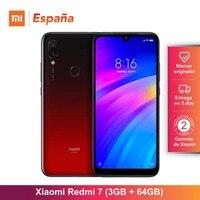 Xiaomi Redmi 7 (64GB ROM, 3GB RAM, Batería de 4000 mah, Android, Nuevo, Libre) [Teléfono Movil Versión Global para España] Movil