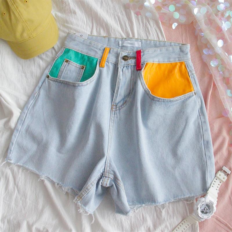Summer Denim High Waist Shorts 1
