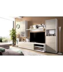 Мебельный набор модулированный салон Luka в белом цвете яркость-серый