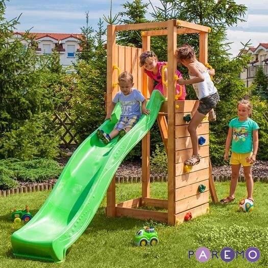 все цены на Game set for children playground: tower climbing досткой, slide and fencing for sandbox онлайн