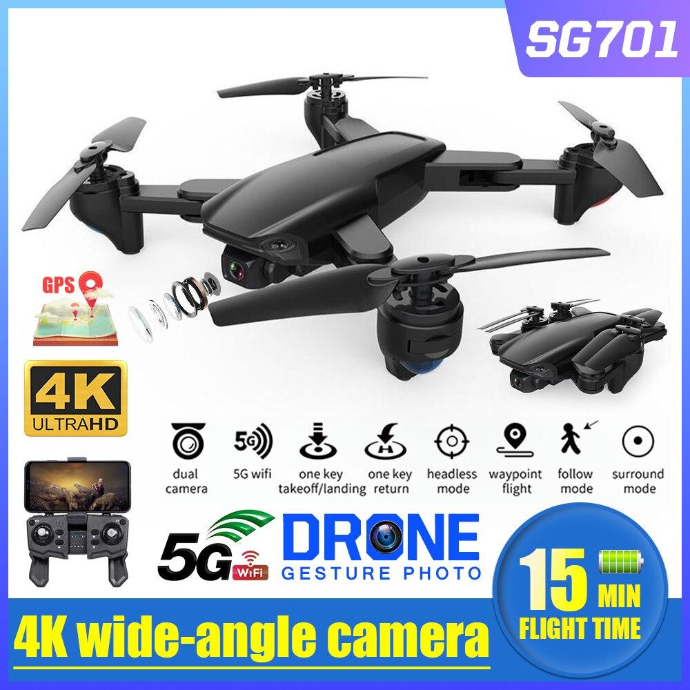 SG701 RC GPS Drone with  FPV 1080P video 4K photo Dual HD Camera Optical Flow Foldable Quadcopter Mini Dron PK E520S SG907