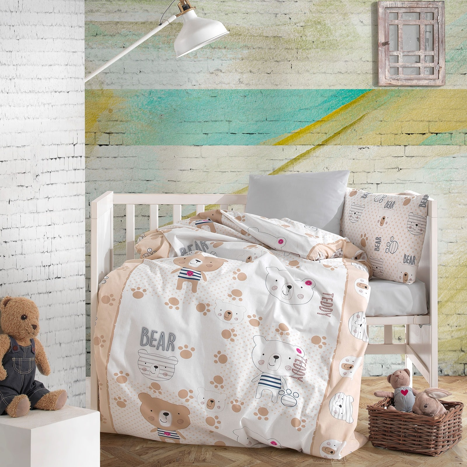 Ebebek Little Dreams Teddy Bear Baby Room Duvet Cover