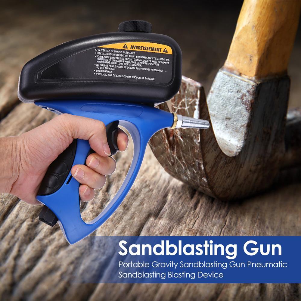 Image 2 - Portable Sandblaster Gun Sandblasting Pistol Sableuse Sandblast Gun DIY Anti rust Blasting Device Pneumatic Small Sand BlastingSpray Guns   -