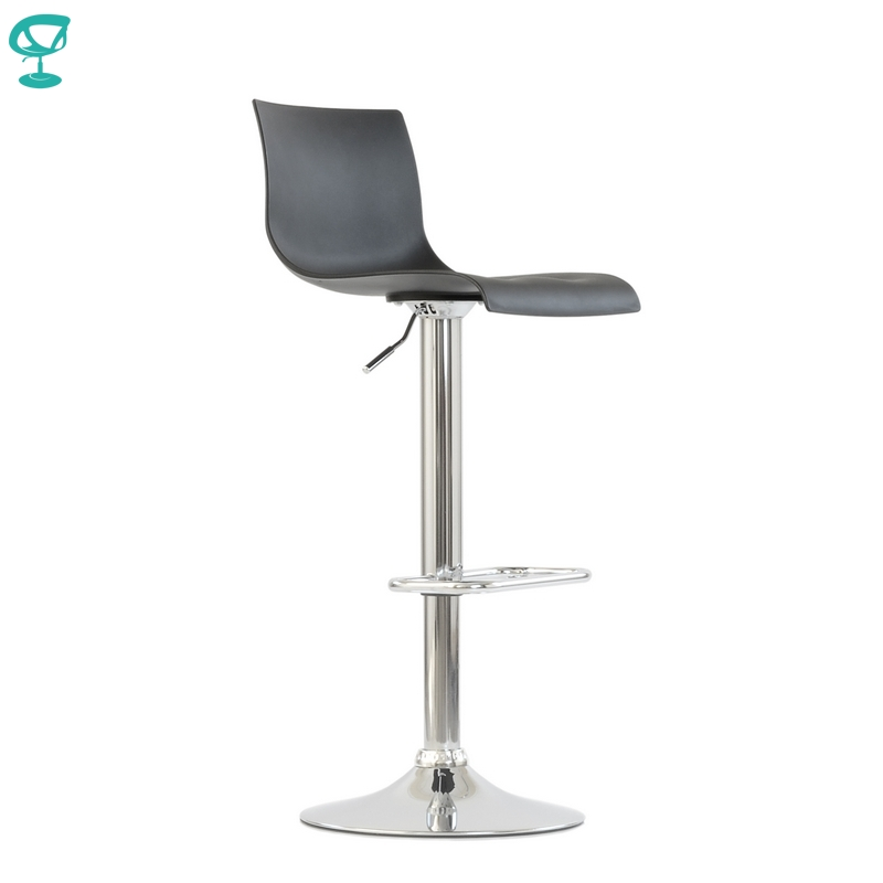 94664 Barneo N-262 High Plastic Kitchen Breakfast Bar Stool Swivel Bar Chair Black Color Free Shipping In Russia
