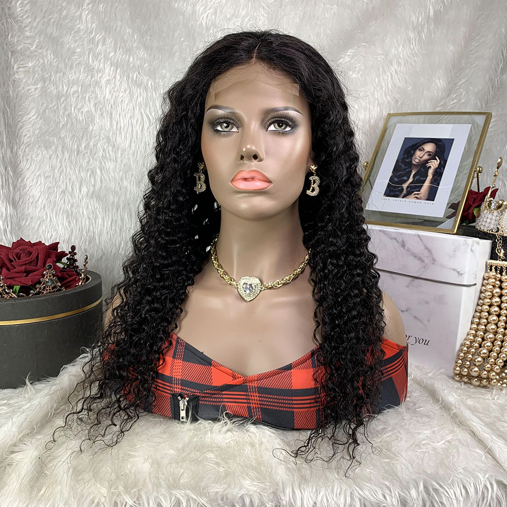 dianteira do laço para perucas brasileiras pretas