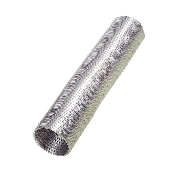 Aluminum Tube Compact Gray Ø 150mm./5 Meters
