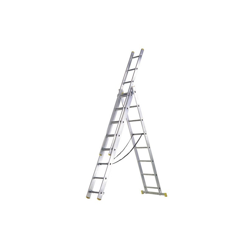 Aluminum Ladder 3 Sections 7 + 7 + 7 Rungs