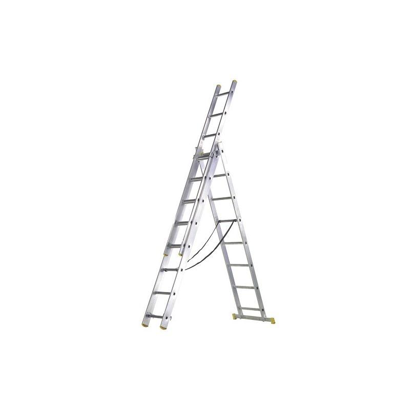 Aluminum Ladder 3 Sections 7 + 7 + 7 Rungs