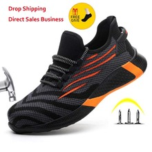 New Work Boots Construction Men's Outdoor Steel Toe Cap Shoes Men Puncture Proof High Quality Super Lightweight Safety Shoes
