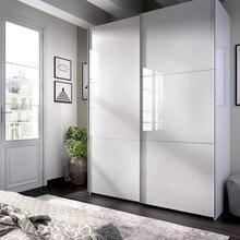 Wardrobe sliding doors model SLIDE COLOR white brightness 180