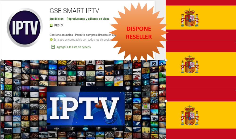 1 Year Subscription Europe IPTV Spain With Spanish Channels m3u VLC For IPTV GSE Smart TV Box Android IOS Smartphone GSE SSIPTV