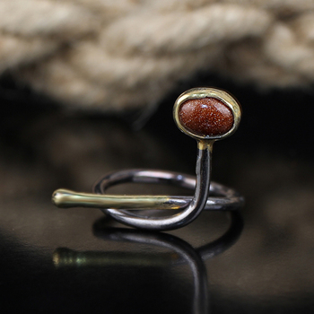 Womens Starstone Ring, Woman 925 Silver Handmade Starstone Ring