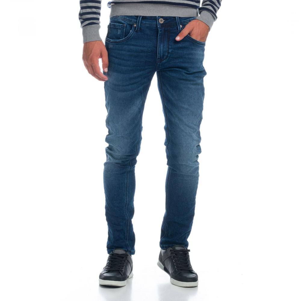 KOROSHI PANT. LONG SLIM FIT/KNIT DENIM MAN