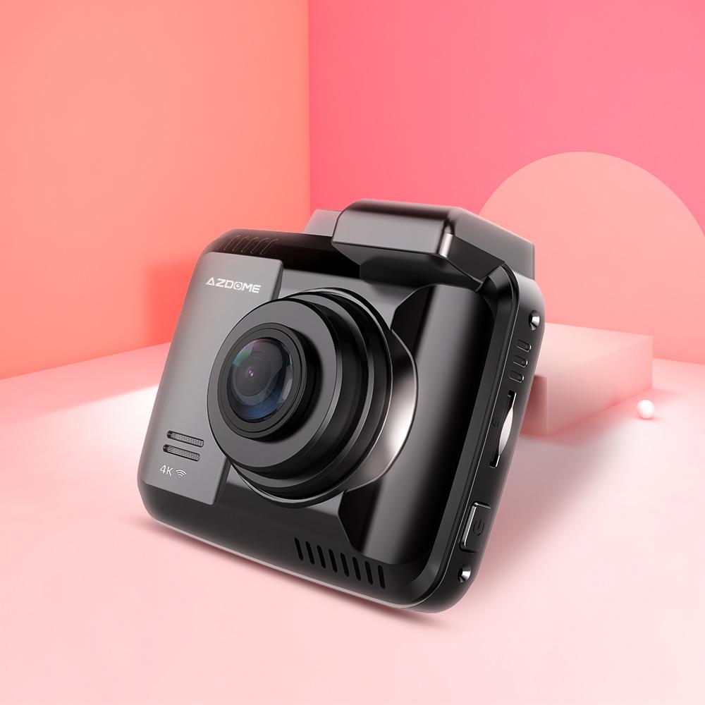 AZDOME Dash Cam GS63H 4K Built In GPS Speed Coordinates WiFi DVR Dual Lens Car Camera Dash Camera Night Vision Dashcam 24H Park