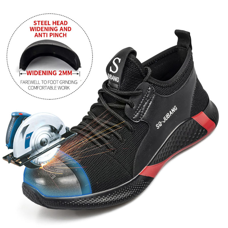 2020 Dropshipping Indestructible Steel Toe Safety Shoes Boots Men And Women Puncture-Proof Work Sneakers Light Weight Breathable(China)