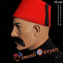 Ottoman-Hat Turkish Fes Fez Tarboosh And Red Burgundy Exotic Oriental Folkloric Authentic