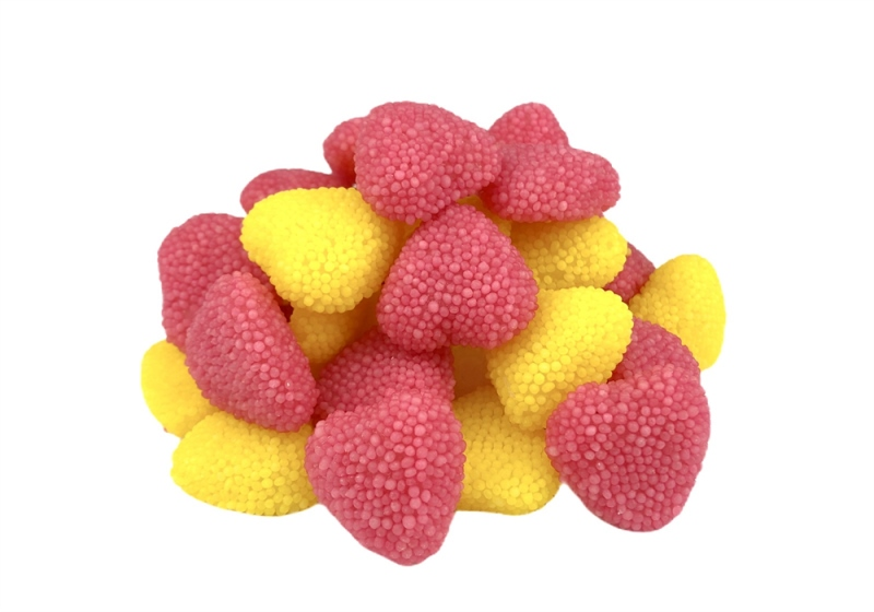 Jujube heart Rose/yellow in обсыпке Fini 100 C.