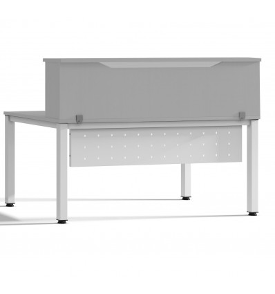 MODULE RECEPTION LOFT 200cm GRAY/GRAY SIZE 200x40x30cm (Table Not Included In The Price, You Buy Separately)