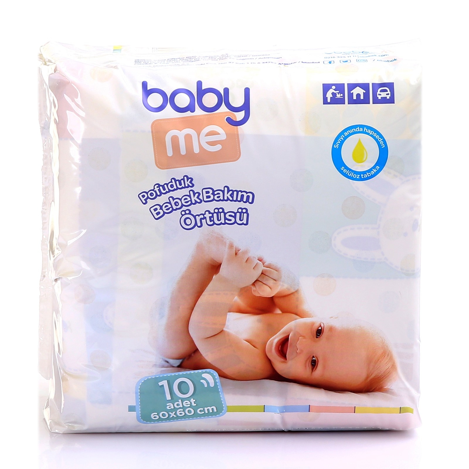 Ebebek Baby&me Diaper Changing Mat 60x60 Cm 10 Pcs