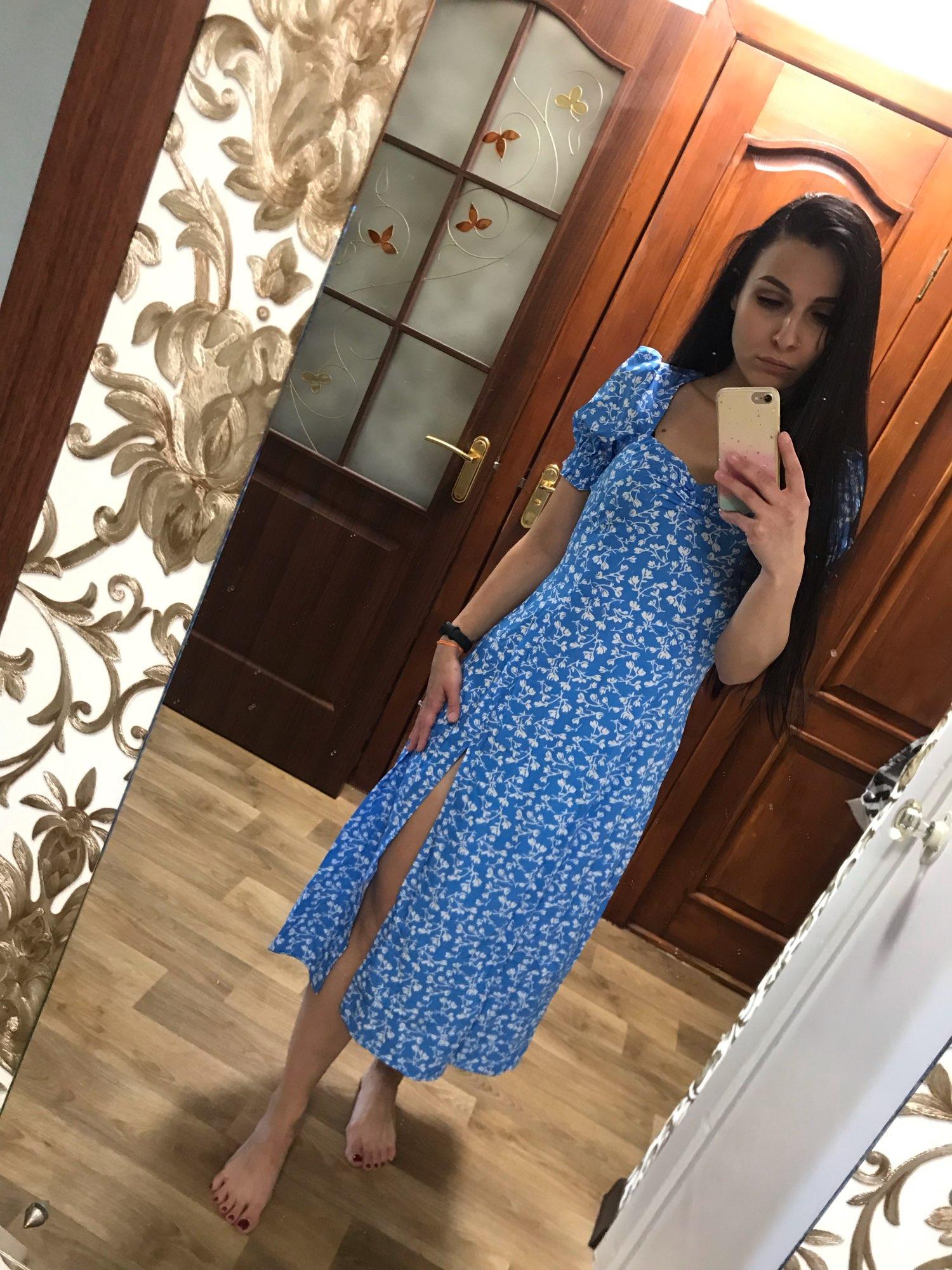 Macheda French Romance Retro Dress Women Casual Floral Print Square Collar Clothing Ruffles Puff Sleeve Midi Dresses Lady|Dresses|   - AliExpress
