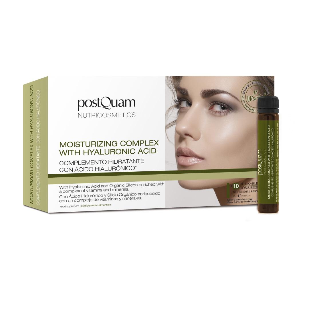 POSTQUAM-Complex Moisturizing With Acid Hialurónic 10x25 Ml-Treatment Piel, Nourishing-Treatment And Cuidado De La Piel