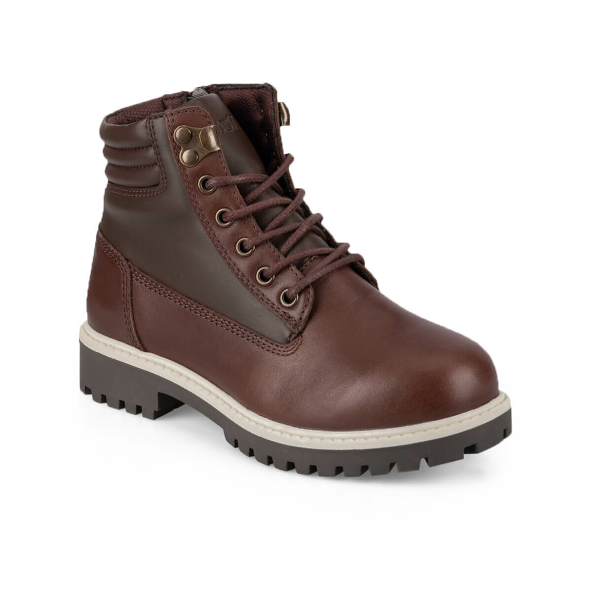 FLO GARET LEATHER 9PR Brown Male Child Boots KINETIX