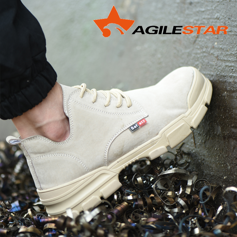 Security Shoes Men Work Safety Shoes Steel Toe Caps Anti-smashing Breathable Boots Anti-slip Working Footwear