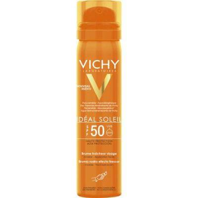Vichy Ideal Spf 50 + Refreshing Facial Spray 75 Ml