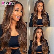 Brown And Blonde Highlight Bundles body wave Human Hair Bundles P4/27 Ombre Bundles Remy Brazilian Hair Weave Bundles Bestsojoy