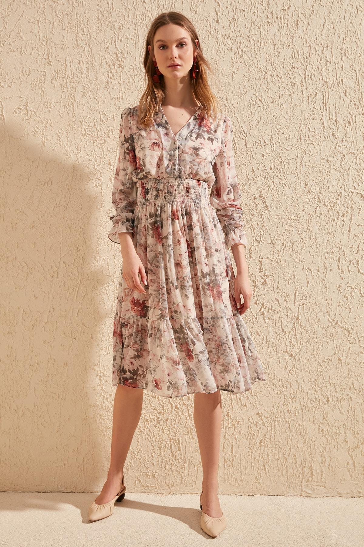 Trendyol Patterned Gipeli Dress TWOSS20EL1251
