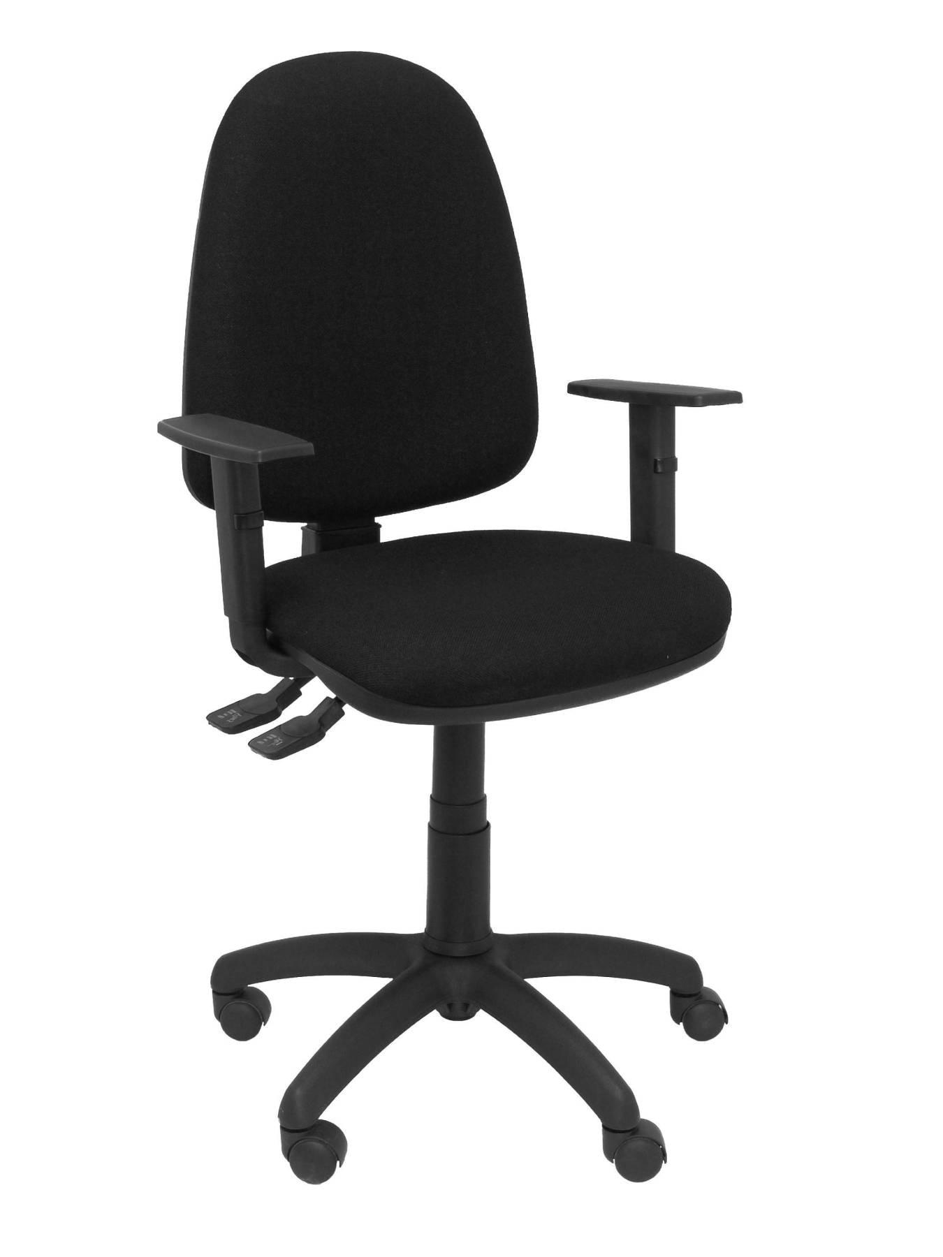 Офисное кресло с механизмом постоянного контакта, двойной ручкой и регулируемой яркостью в сидении на большой высоте и задней остановке