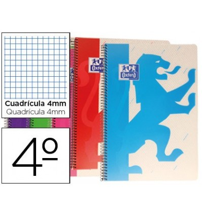 NOTEPAD SPIRAL OXFORD LID PLASTIC POWERFUL OPTIK PAPER BATHROOM 80 SHEETS 90 GR TABLE 4 MM COLORS ASSORTED 5 Units
