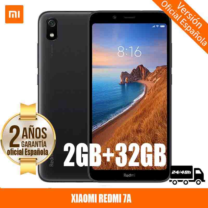 [Offizielle Spanisch Version] Xiaomi Redmi 7A, 2 harte GB + 32 harte GB Dual SIM 5,45 ''Screen Full HD, Qualcomm Snapdragon Octa-Core