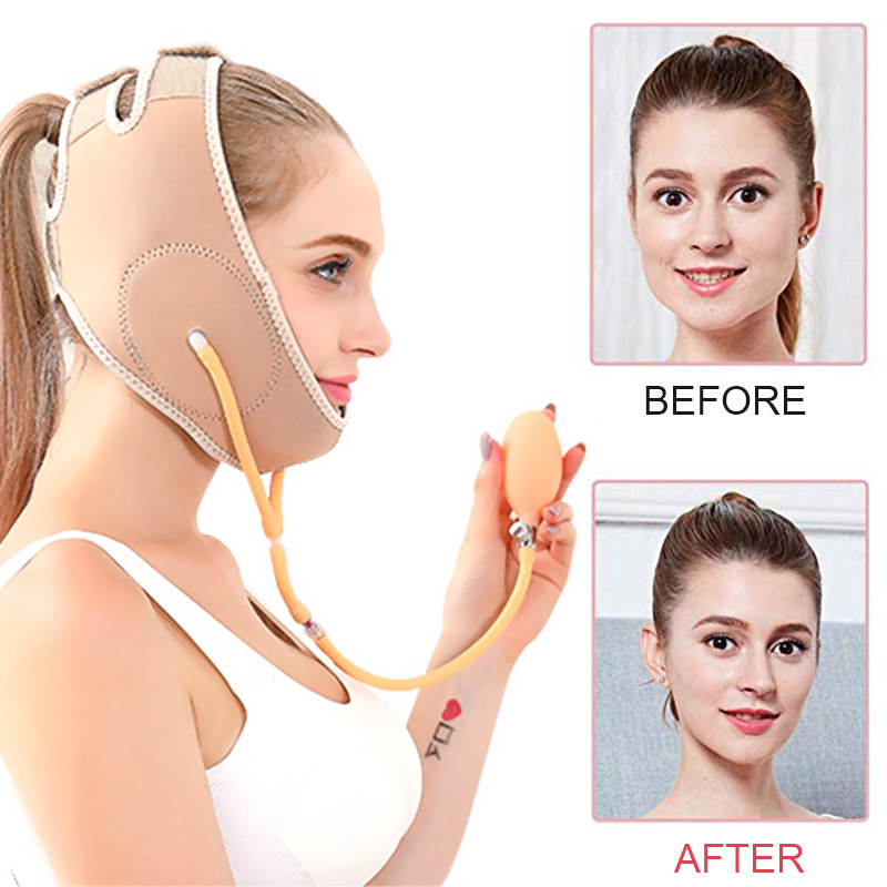 Gas Supercharging Face Lift Tools Thin Face Bandage Mask Slimming Belt Facial Thin Masseter Double Chin Skin Belt Lifting Band