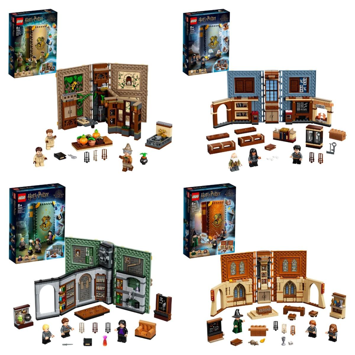 LEGO Harry Potter TM Momento Hogwarts: Clases de Transfiguración 76382, Pociones 76383, Herbología 76384 y Encantamientos 76385|Bloques| - AliExpress
