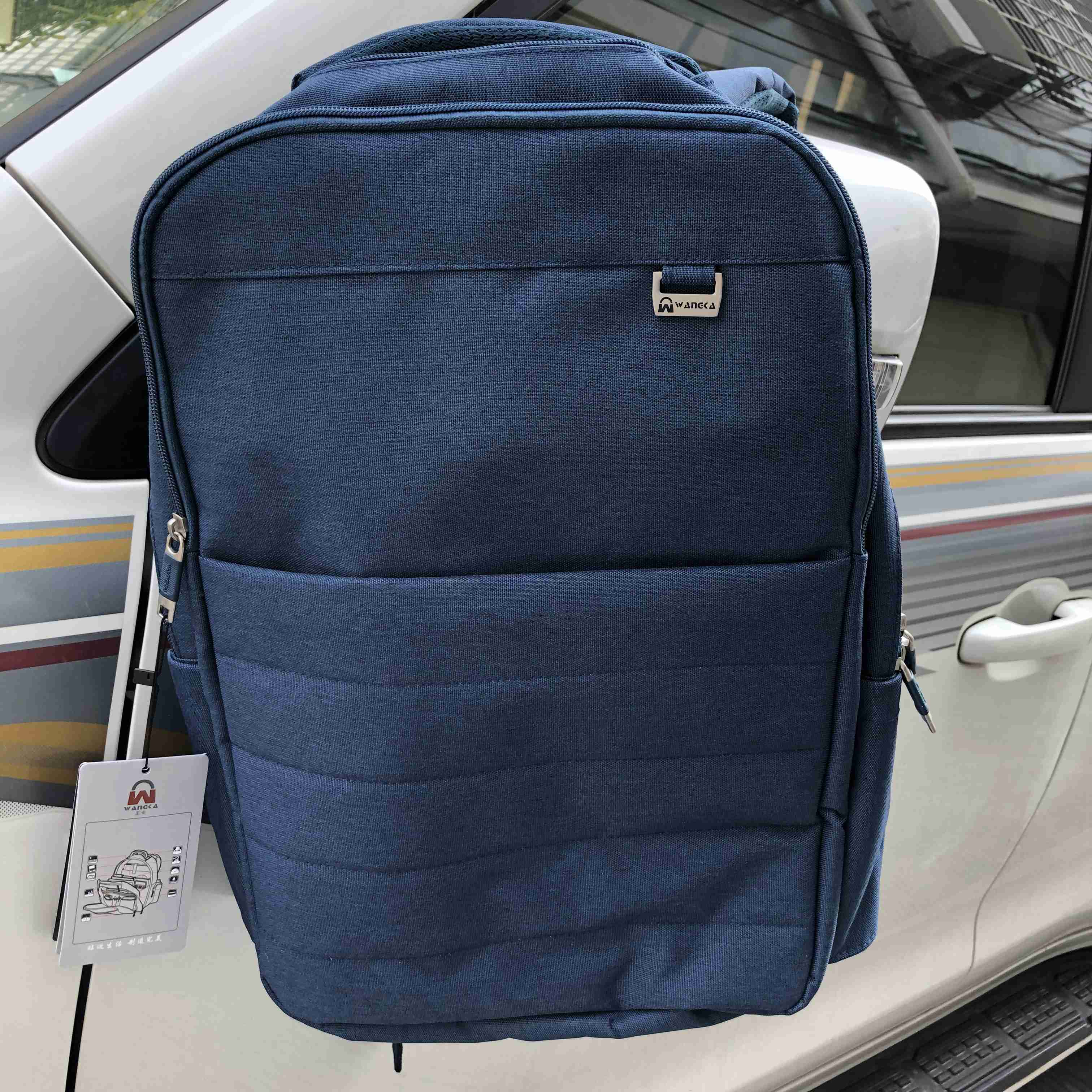 Anti Theft Backpack Canvas School Bags Leisure  Business 15.6Inch Laptop Backpack With  Headphone Interface For Men photo review