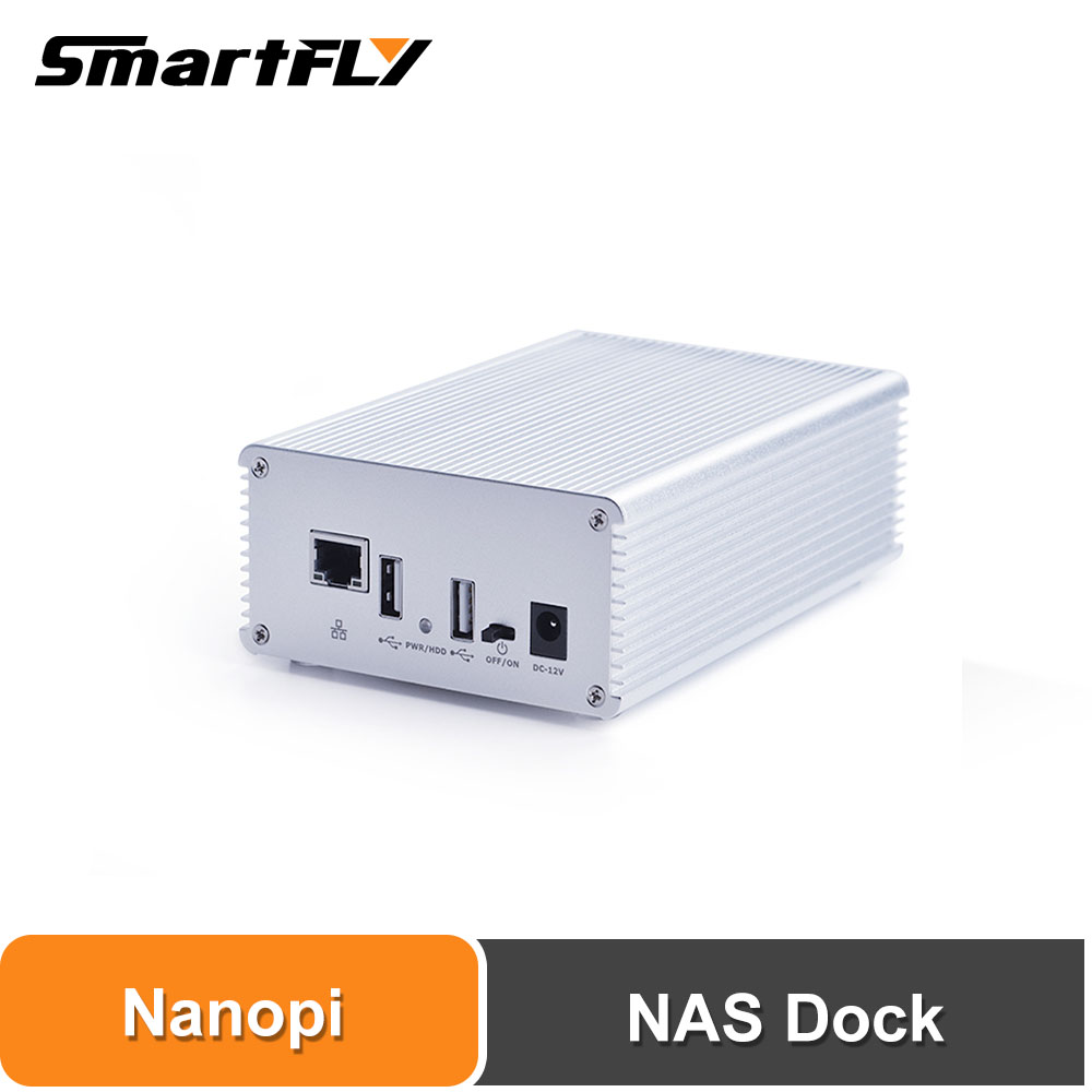 Smartfly Friendlyarm NAS Kit  For NanoPi NEO/NEO2/PLUS2 Aluminum Case OpenMediaVault Ready NanoPi NEO/NEO2/PLUS Application