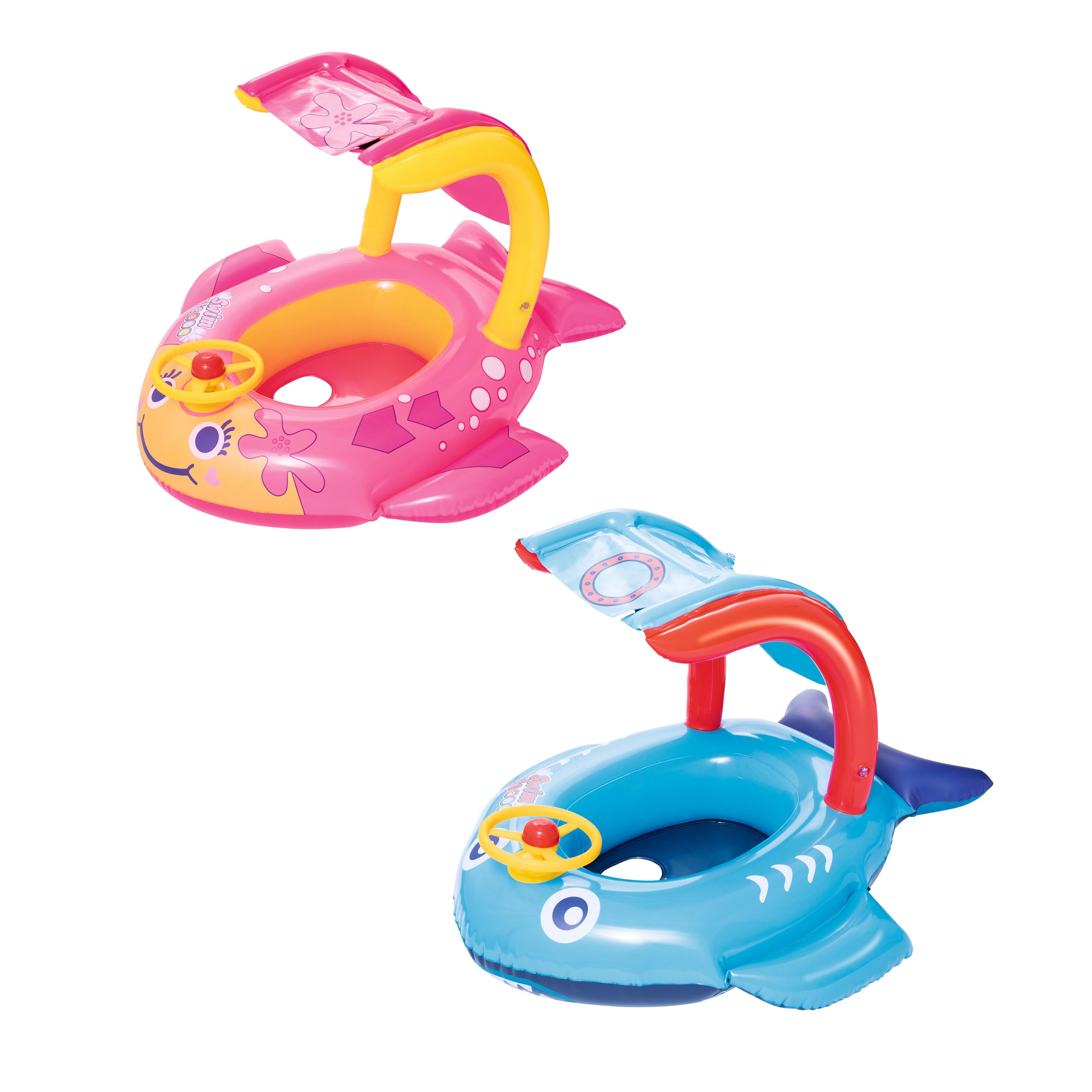Inflatable плотик Swimming Children's, For Children, 81 х66см (shark, Fish), From 1 To 3 Years Old, Bestway, Item No. 34108ne