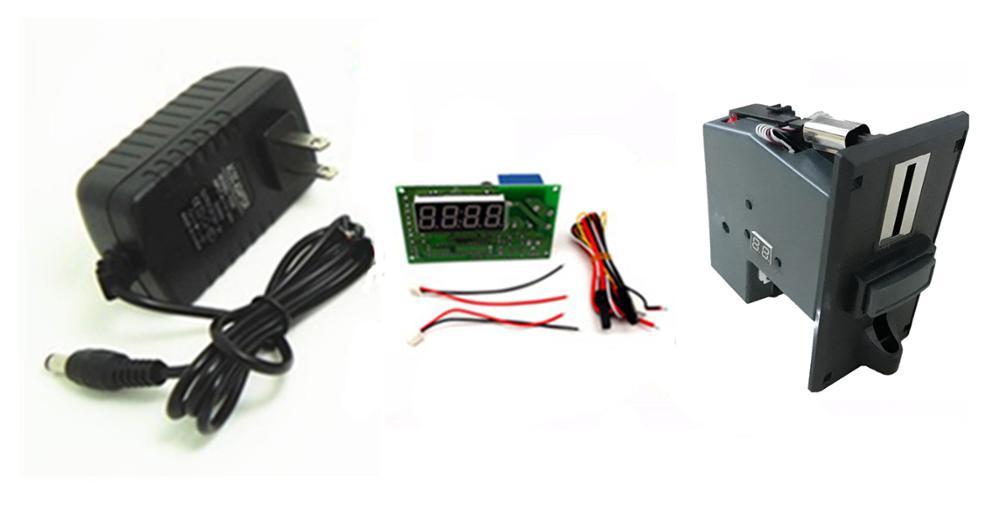 Modell 923P + 15A mit adapter münz Zeit Steuerung Timer Board Netzteil für multi münzprüfer selector