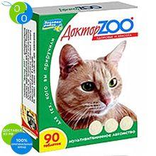 Доктор Зоо Витамины Здоровье и красота для кошек 90 таблеток