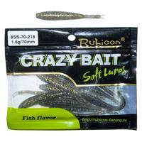 Edible silicone lure Rubicon crazy bait SS 1.6g, 70mm, color 218 art. 8ss 70 218 (12 PCs)